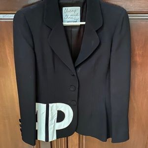 Moschino Couture Cheap & Chic Black Suit